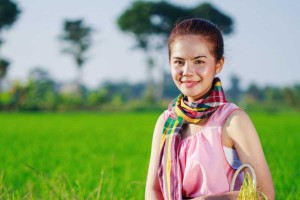 Scarf with Traditional Thai Loincloth Pattern
