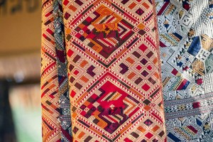 Traditional Thai Pattern Scarf