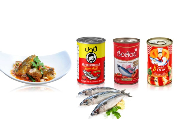 Canned Mackerel or Sardines in Tomato Sauce