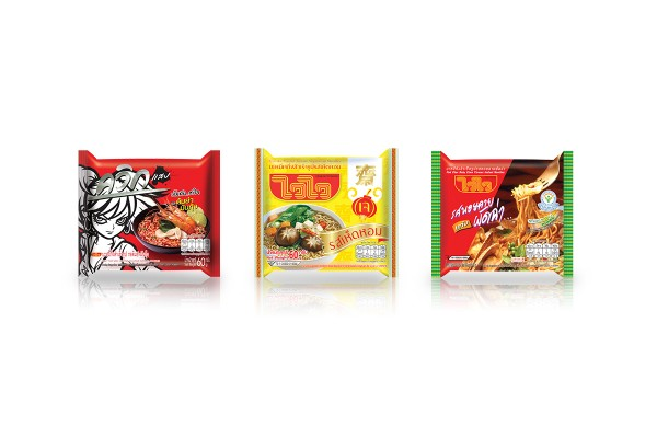 WAIWAI Instant Noodles with Variety of Flavors