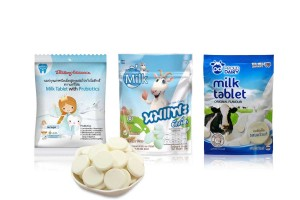 Milk Tablets in Assorted Flavors