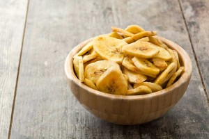 Crispy Baked or Dehydrated Banana Chips