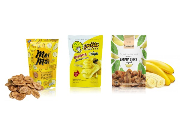 Delicious Crispy Fried Banana Chips in Assorted Flavors from Thailand