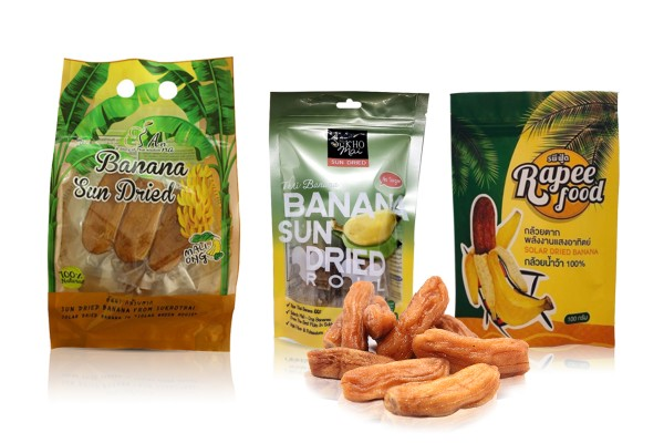 Delicious Solar Dried Bananas in Assorted Flavors from Thailand