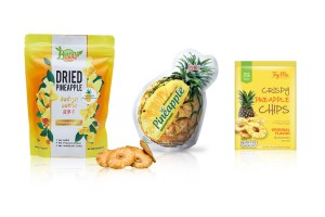 Baked Dried or Dehydrated Pineapple