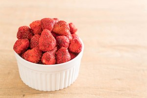 Baked and Freeze Dried Strawberry