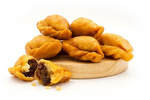 Fried Puff Snack with Fish or Shrimp Filling or 'Panclip'
