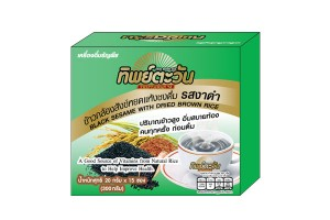 THIPTAWAN Black Sesame Drink Mixed with Dried Brown Rice