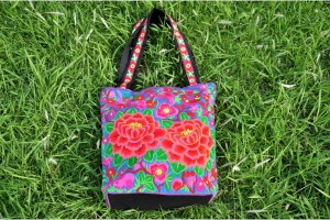 Chic & Colorful Tote Bag from Thailand
