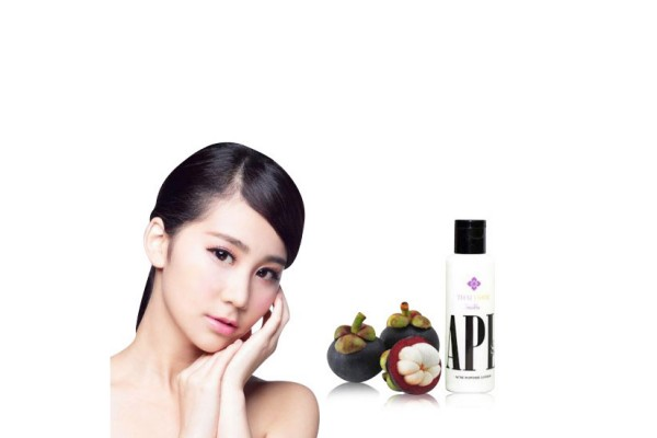 Acne Powder Lotion Treatment from Mangosteen Rind Extract