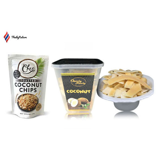 Baked or Roasted Coconut Chips