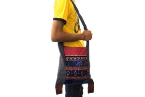 Very Affordable Handmade Cotton Traditional Thai Crossbody Bag with with Elephant Pattern
