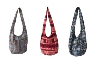 Crossbody Bag Messenger Bag with Variety of Thai Elephant Patterns