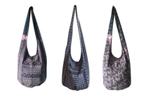 Crossbody Bag Messenger Bag with Variety of Thai Style Patterns