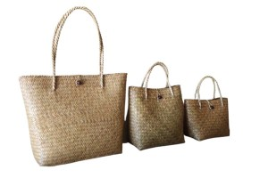 Handmade Lady Straw Bag, Basket Bag Made from Krajoot, Eco-Freiendly Material