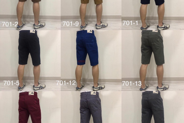 Men's Short Cotton Pants Made in Thailand