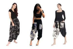 Traditional Hill Tribe Harem Pants from the North of Thailand, Black & White Patterns