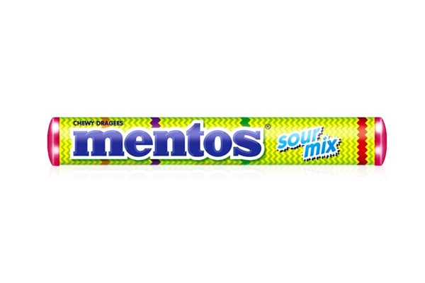 MENTOS Candy in Stick, Sour Mix - 37 g