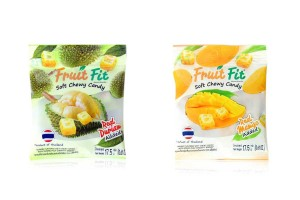 MITR MAI FRUIT FIT, Soft Chewy Durian & Mango Candy