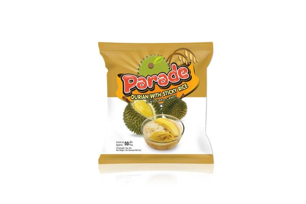 PARADE, Durian With Sticky Rice Flavor Candy - 135 g
