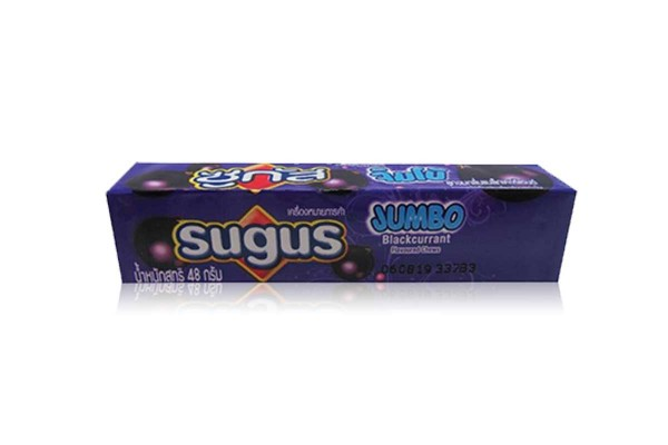 SUGAS Jumbo Candy in Stick, Blackcurrant - 48 g