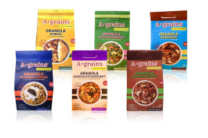 A-GRAINS Granola, Variety of Flavors