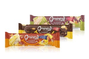 GRAINEY, Multigrain Bars with Favorite Flavors