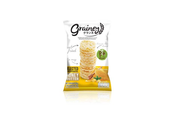 GRAINEY Rice Snack, Honey Butter - 20 g