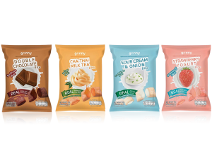 GRINNY, Healthy Crunchy Multigrain Snacks with Fillings
