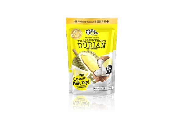 Freeze-Dried Durian with Coconut Milk Dip - 100 g