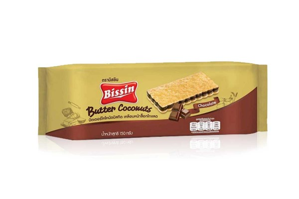 BISSIN, Butter Coconut with Cocao Filling - 150 g