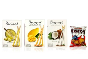 ROCCO, Stick Biscuit Coated with Thai Fruit Flavors