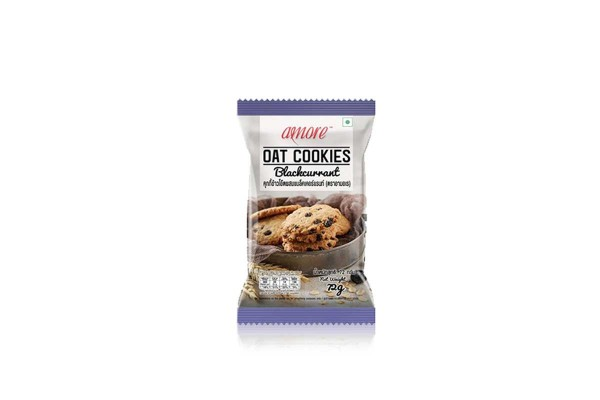 AMORE Oat Cookies, Blackcurrant - 72 g