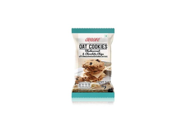 AMORE Oat Cookies, Blackcurrant & Chocolate Chip - 72 g