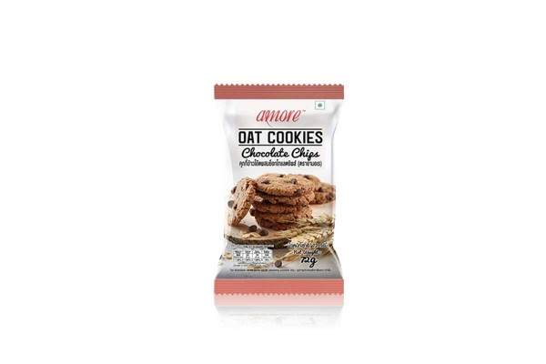 AMORE Oat Cookies, Chocolate Chip - 72 g