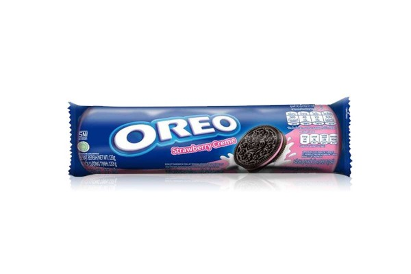 OREO Sandwich Cookies, Strawberry - 133 g