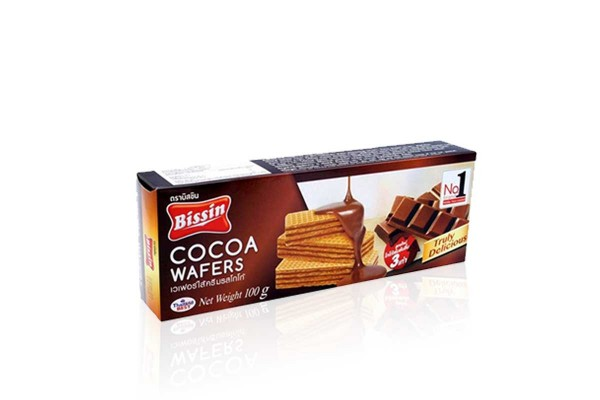 BISSIN Wafer, Cocoa - 100 g