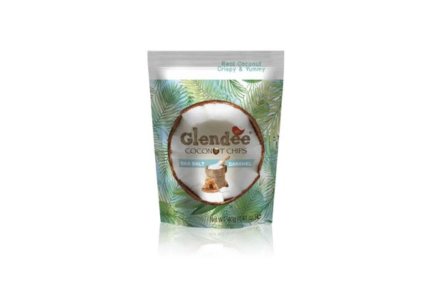 GLENDEE Coconut Chips, Sea Salted Caramel - 40 g