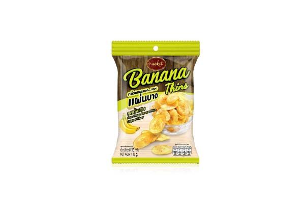 NACKET Crispy Banana Baked Thin, Original - 33 g