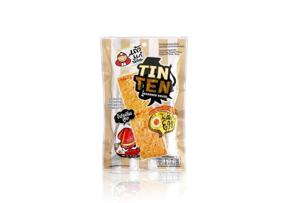 Tin Ten Seasoned Squid Snack with Salted Egg - 24 g