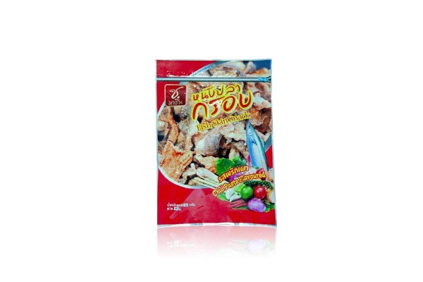 SHORE MARINE Crispy Fish Skin, Chili Paste Flavor - 50 g