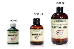 100 % Cold-pressed Castor Oil 250, 100, 60 ml
