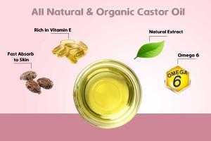 Pure Organic Cold Pressed Castor Oil 200 ml